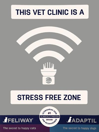 designated stress free veterinary clinic