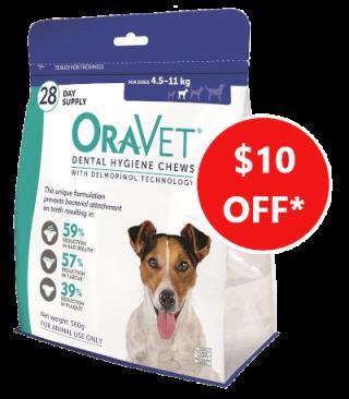 oravet dental chews veterinary dogs