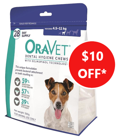 oravet dental chews veterinary dogs